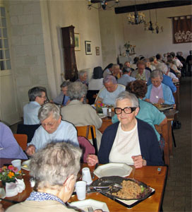 salle à manger à l'Abbaye